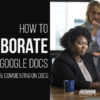 google docs collaboration team
